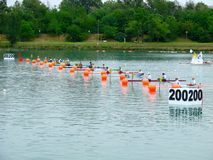 Campionati 2008 dell'europeo di Flatwater Fotografie Stock Libere da Diritti