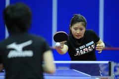 Campionati di ping-pong della squadra del mondo Fotografia Stock