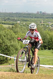 Campionati europei in bici di montagna Fotografie Stock
