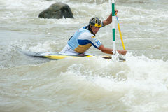 Campionati europei di slalom della canoa, Cunovo (SVK) Immagini Stock