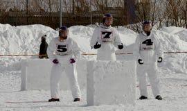 Campionati finlandesi 2010 della palla di neve di Yukigassen Fotografie Stock Libere da Diritti