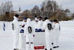 Campionati finlandesi 2010 della palla di neve di Yukigassen Fotografia Stock Libera da Diritti
