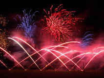 Campionati musicali britannici del fuoco d'artificio Immagine Stock