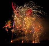 Campionati musicali britannici del fuoco d'artificio Fotografia Stock Libera da Diritti