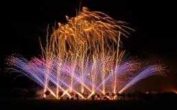 Campionati musicali britannici del fuoco d'artificio Fotografie Stock Libere da Diritti