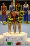 Campionati relativi alla ginnastica artistici europei 2009 Fotografie Stock
