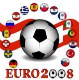 Campionato 2008 dell'euro illustrazione di stock