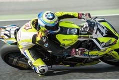 CAMPIONATO CATALANO DI MOTOCICLISMO - DAVID VIGUERAS fotografia stock