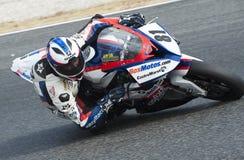 CAMPIONATO CATALANO DI MOTOCICLISMO - EDUARDO SALVADOR fotografia stock libera da diritti