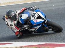 CAMPIONATO CATALANO DI MOTOCICLISMO - JAVIER PASCUAL immagini stock libere da diritti
