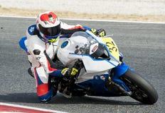 CAMPIONATO CATALANO DI MOTOCICLISMO - JAVIER POVES fotografie stock libere da diritti