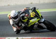 CAMPIONATO CATALANO di MOTOCICLISMO - Oscar Arias fotografie stock libere da diritti