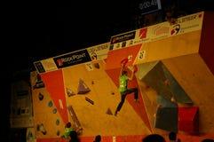 Campionato ceco nel bouldering 2015 fotografie stock