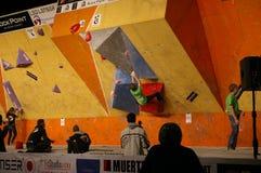 Campionato ceco nel bouldering 2015 immagine stock