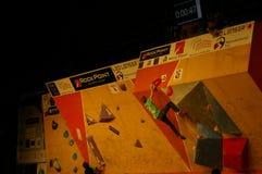Campionato ceco nel bouldering 2015 immagini stock