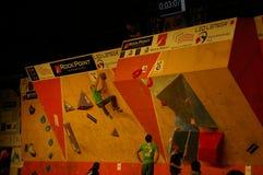 Campionato ceco nel bouldering 2015 immagini stock libere da diritti