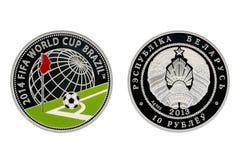 Campionato del mondo di biathlon della moneta d'argento immagine stock