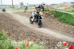 Campionato dell'Europa orientale 2013 di Supermoto Fotografia Stock