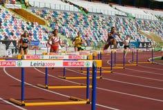 Campionato di atletismo, donne delle transenne dei 400 tester Fotografia Stock