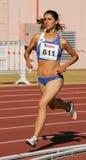 Campionato di atletismo, Lidia Sousa Fotografia Stock Libera da Diritti