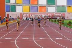 Campionato di atletismo, lle donne dei 400 tester Fotografia Stock