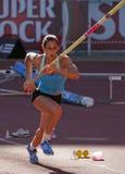 Campionato di atletismo, Marta Onofre Immagini Stock Libere da Diritti