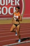 Campionato di atletismo, Sara Moreira Immagine Stock Libera da Diritti