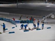 Campionato di biathlon ai giochi olimpici 2018 Fotografia Stock Libera da Diritti