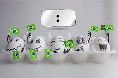 Campionato di calcio del Brasile fotografia stock