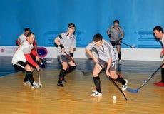 Campionato di Floorball dell'Ucraina 2011-2012 Fotografia Stock Libera da Diritti
