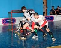 Campionato di Floorball dell'Ucraina 2011-2012 Immagine Stock Libera da Diritti