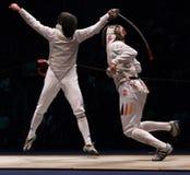 Campionato di recinzione del mondo 2006; Baldini-Joppich Immagini Stock Libere da Diritti