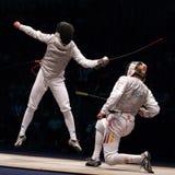 Campionato di recinzione del mondo 2006; Baldini-Joppich Fotografia Stock
