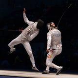 Campionato di recinzione del mondo 2006; Baldini-Joppich Immagini Stock
