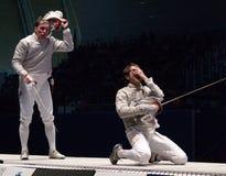 Campionato di recinzione del mondo 2006; Pozdniakov-Pina Fotografia Stock Libera da Diritti