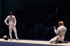 Campionato di recinzione del mondo Baldini 2006 contro Joppich Fotografie Stock