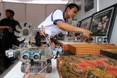Campionato di robotica Fotografie Stock