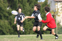 Campionato di rugby della gioventù Fotografie Stock Libere da Diritti