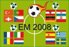 Campionato europeo 2008 Fotografia Stock Libera da Diritti