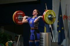 Campionato europeo di sollevamento pesi, Bucarest, Romania, 2009 Immagine Stock
