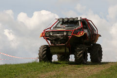 Campionato fuori strada del camion, Aluksne, Lettonia, il 10 maggio 2008 Immagine Stock