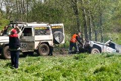 Campionato fuori strada del camion, Aluksne, Lettonia, il 10 maggio 2008 Fotografie Stock
