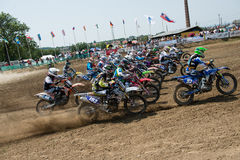 Campionato MX3 e WMX, Slovacchia del mondo di motocross Immagine Stock Libera da Diritti