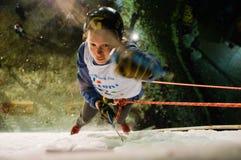 Campionato rampicante Busteni 2009 del mondo del ghiaccio - ROM immagini stock libere da diritti