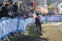 Campionato 2015 Tabor, repubblica Ceca del mondo del ciclo-cross Fotografie Stock