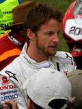 Campione britannico di Formula 1 del tasto di Jenson Immagine Stock Libera da Diritti
