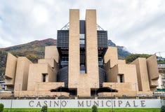 Campione d'Italia市政赌博娱乐场  免版税图库摄影