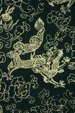 Campione del tessuto del cinese tradizionale Fotografia Stock Libera da Diritti