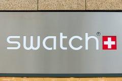 Campione dell'emblema. Swatch Group srl Fotografia Stock Libera da Diritti