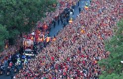 Campione dell'europeo della Spagna Fotografia Stock Libera da Diritti